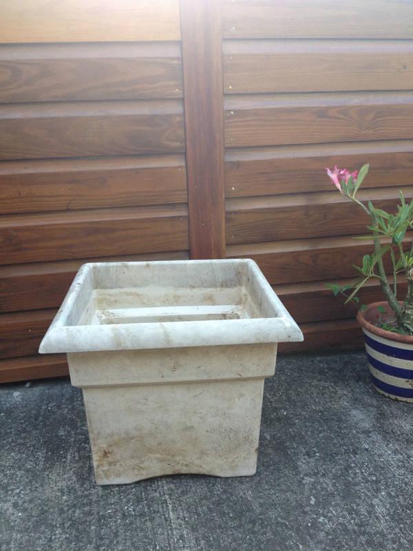 pot carr 233 blanc pour plante verte annonce bricolage jardinage barth 233 lemy