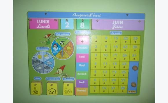calendrier pédagogique pour enfant  Annonce  DVD  CD  ~ Calendrier Bois Enfant