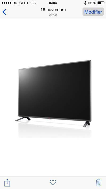 tv lg 107 cm annonce image son martinique. Black Bedroom Furniture Sets. Home Design Ideas