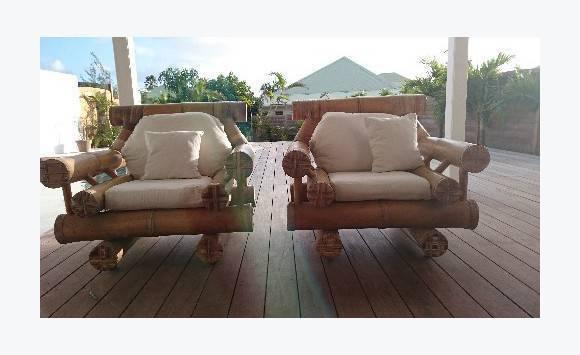 fauteuils en bambou annonce vide maison saint martin. Black Bedroom Furniture Sets. Home Design Ideas