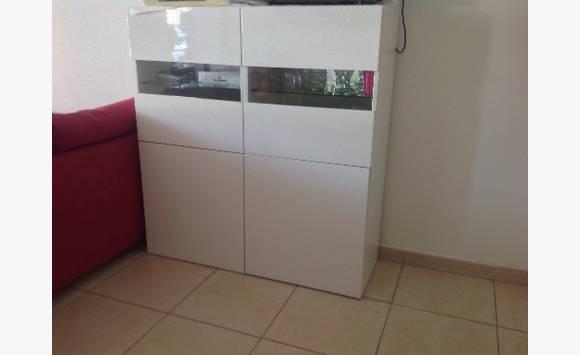 meuble ikea laqu blanc annonce meubles et d coration cul de sac saint martin. Black Bedroom Furniture Sets. Home Design Ideas