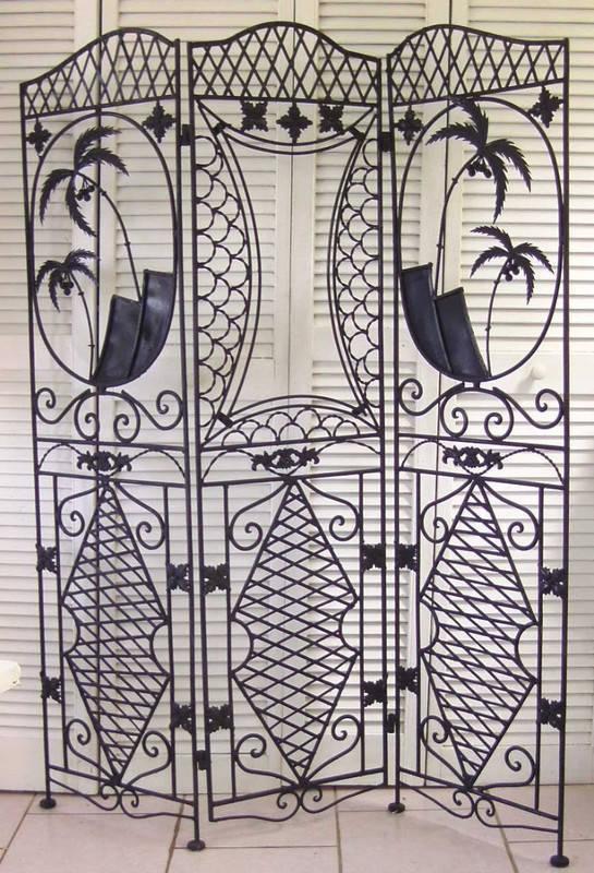 Paravent en fer forg annonce meubles et d coration mont vernon saint martin - Paravent fer forge et tissu ...