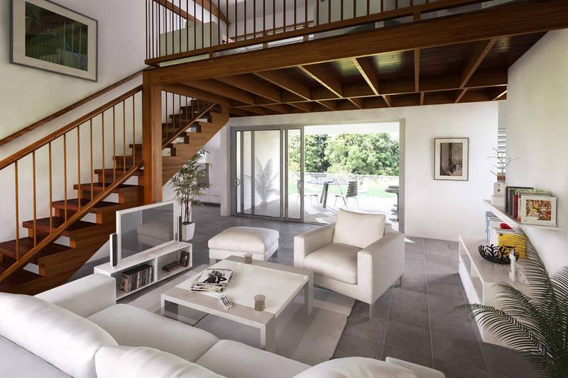 Villa T4 de plein pied avec mezzanine.