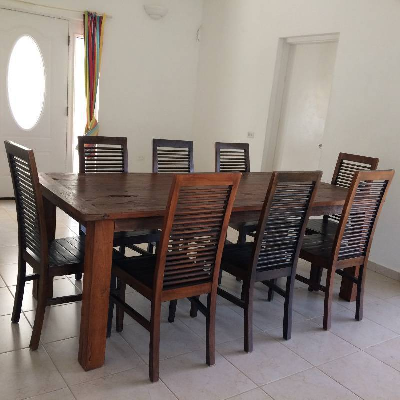 Eettafel met 8 stoelen advertentie meubels decoratie sint maarten - Eettafel met stoelen ...