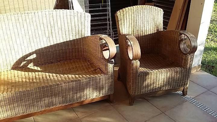 Canape et fauteuil osier annonce mobilier et for Fauteuil osier exterieur