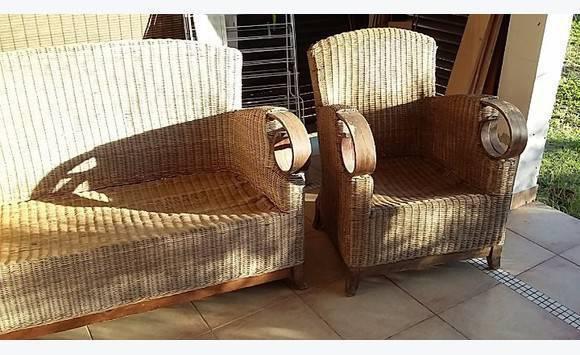 Canape et fauteuil osier annonce mobilier et for Canape osier