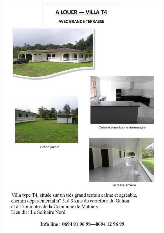 Villa louer annonce locations maison guyane for Annonce maison location