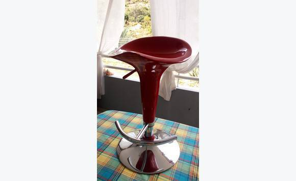 Red Bar Stool Furniture And Decoration Saint Martin Cyphoma