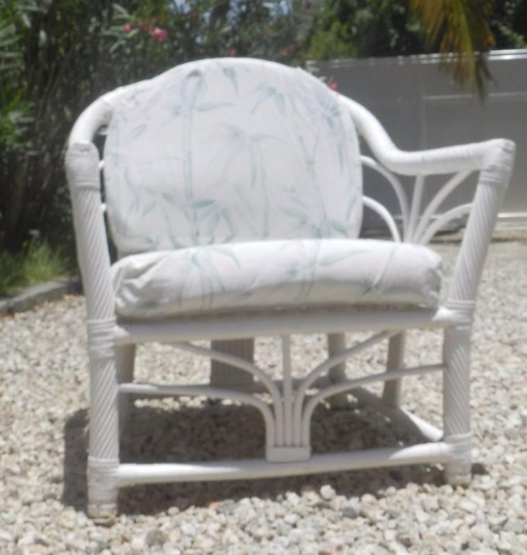 Ensemble mobilier rotin blanc annonce mobilier et for Equipement exterieur