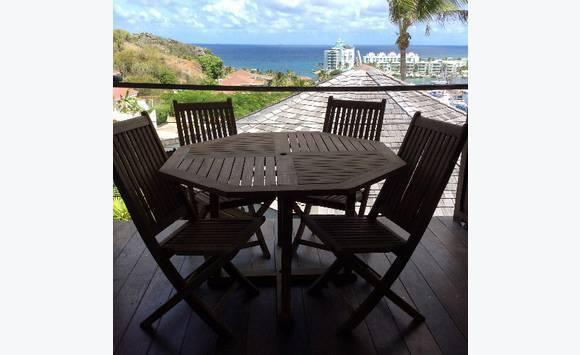 Table et chaise en teck annonce meubles et d coration saint martin - Table et chaise en teck ...
