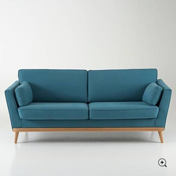 Sofa Vintage 3 Seater Blue Nine Duck