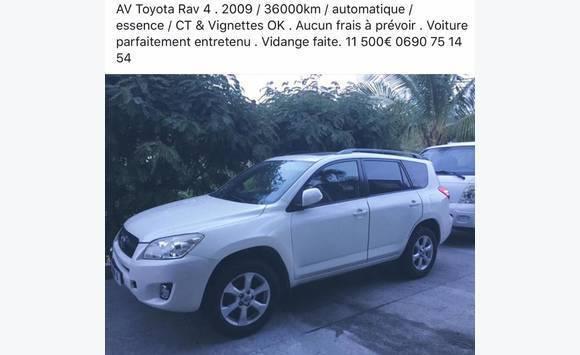 083f92966b Toyota rav 4 - Classified ad - Cars Saint Barthélemy
