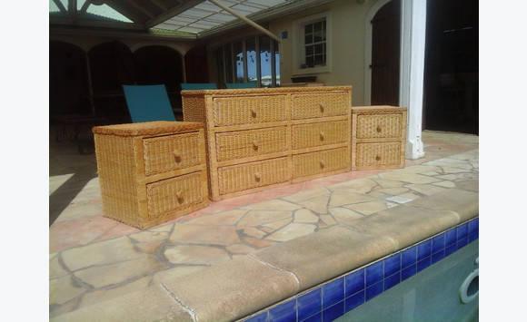 meubles rotin annonce vide maison mont vernon saint martin. Black Bedroom Furniture Sets. Home Design Ideas