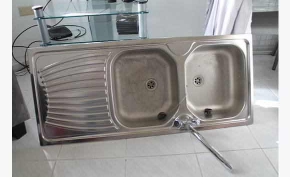 Double Bowl Stainless Steel Kitchen Sink.New Double Bowl Stainless Steel Kitchen Sink