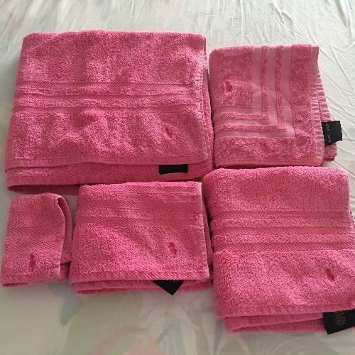 serviettes de bain ralph lauren annonce linge de maison gustavia saint barth lemy. Black Bedroom Furniture Sets. Home Design Ideas