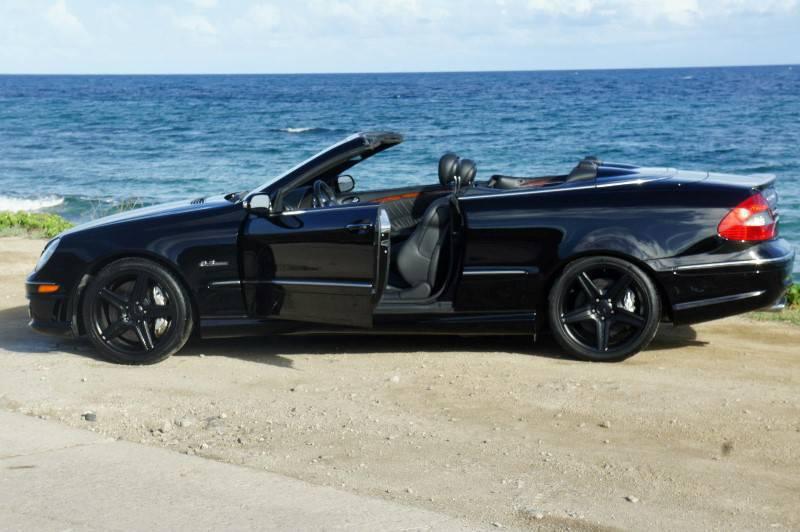 Mercedes Benz Clk 63 Amg Black Convertible Cars Saint Barthelemy