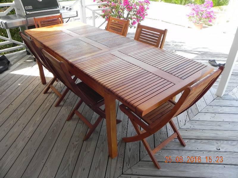 Table et 6 chaises en teck annonce mobilier et for Mobilier exterieur teck