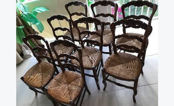 Chaises bois et paille style proven al annonce meubles - Meubles style provencal avec prix ...