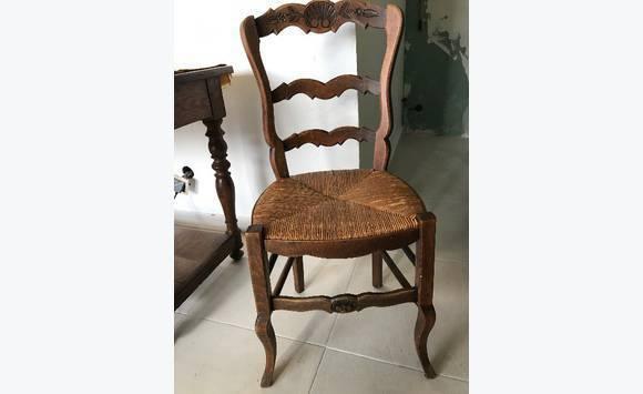 Chaises bois et paille style proven al annonce meubles for Meubles style provencal avec prix