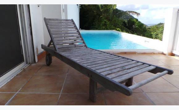 Bain de soleil teck annonce mobilier et quipement d for Mobilier exterieur teck