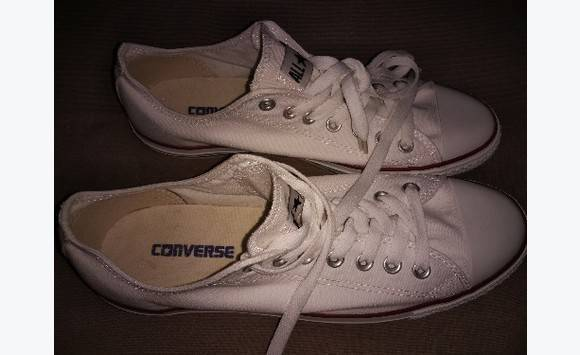 converse blanche lave linge