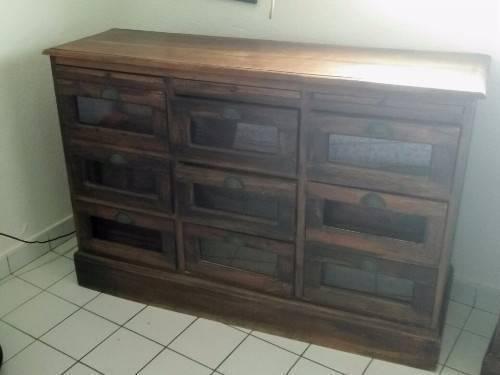 commode d 39 apothicaire 9 tiroirs en bois de rose annonce meubles et d coration saint martin. Black Bedroom Furniture Sets. Home Design Ideas