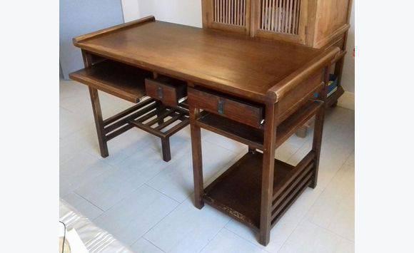 Bureau en bois avec tablette pour clavier annonce meubles et