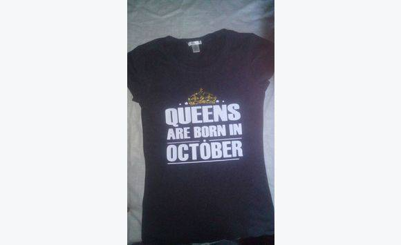 Queens Kings Prince And Princess Birthday Shirts