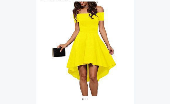 0a57350a357d Yellow off shoulder dress - Clothing Antigua and Barbuda • Cyphoma