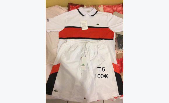 détaillant en ligne e57e5 44be4 Vêtements Lacoste Ensemble short Martinique Polo kXOPuZi