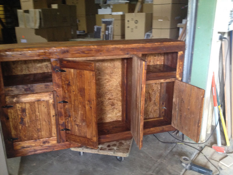 Meuble bois de palette double fond annonce meubles et for Meuble martin