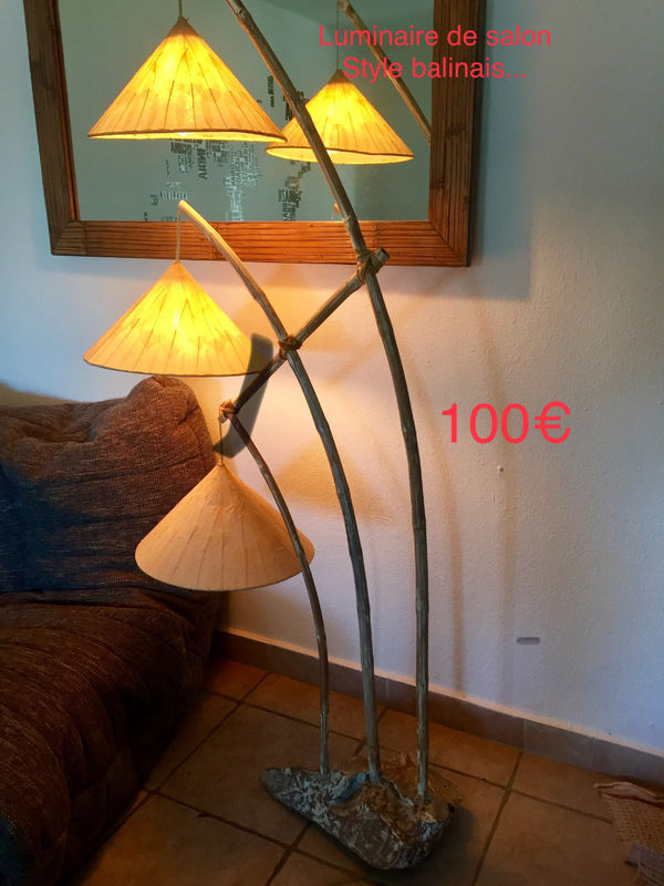 Lamp Balinese 3 lampshades - Classified ad - Lighting Baie Nettle ...