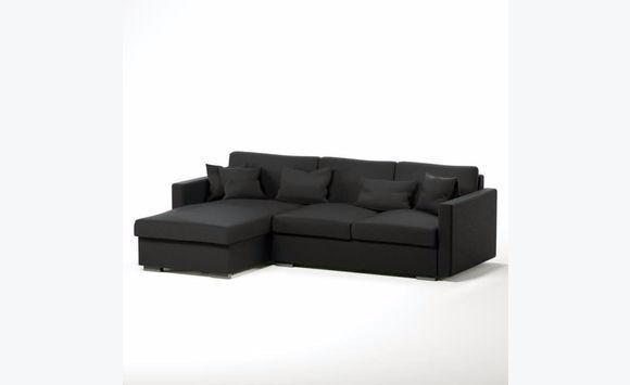 Reversible Corner Sofa 5 Anthracite Grey Squares