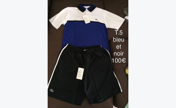 ad228bb75e ensemble lacoste polo+short - Vêtements Martinique • Cyphoma