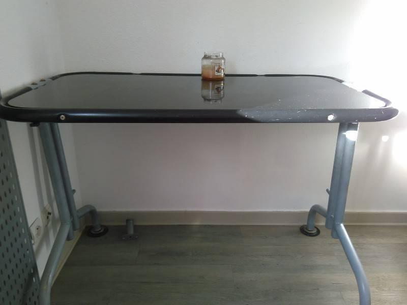Bureau plateau verre noir meubles et décoration saint martin