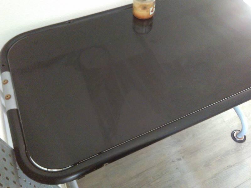 Bureau plateau verre noir annonce meubles et décoration parc