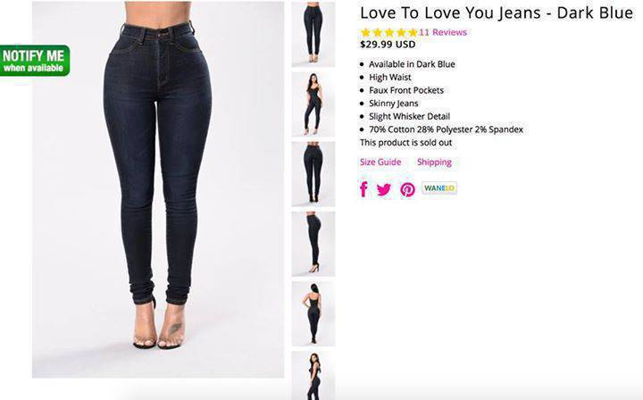 Jeans From Fashion Nova Size 9 Saba