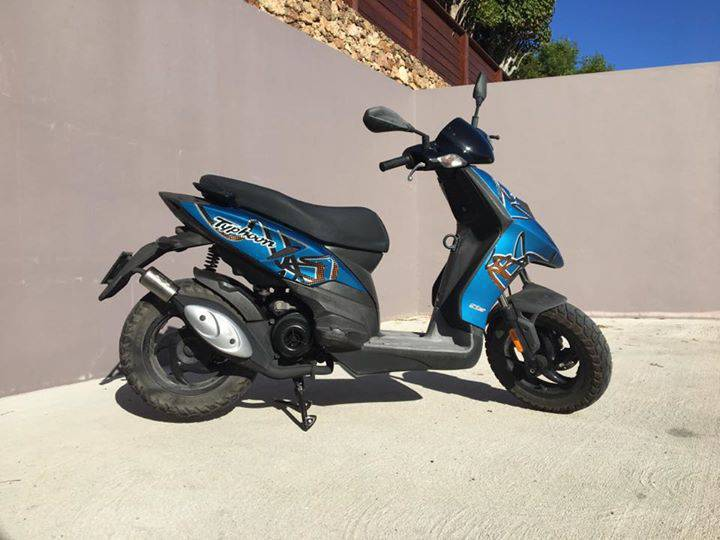 scooter 50cc piaggio typhoon classified ad motorbikes scooters quads saint barth lemy. Black Bedroom Furniture Sets. Home Design Ideas