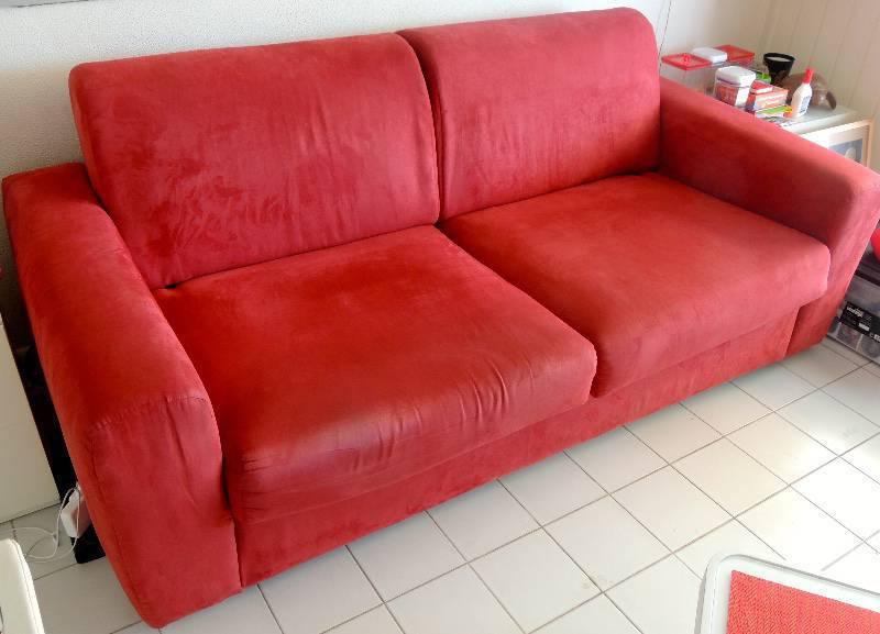 Canape convertible rouge annonce meubles et d coration for Canape 2 metres
