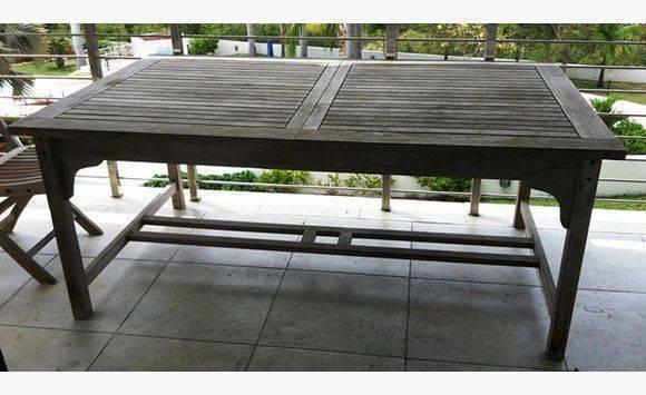 Table de jardin 5 chaises annonce mobilier et for Table exterieur 3m