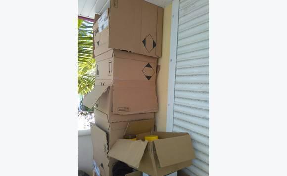 cartons annonce vide maison parc de la baie orientale saint martin. Black Bedroom Furniture Sets. Home Design Ideas