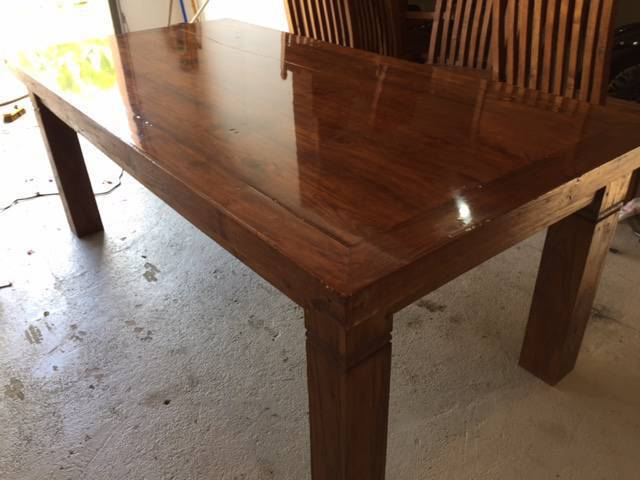 Beautiful table in solid exotic wood
