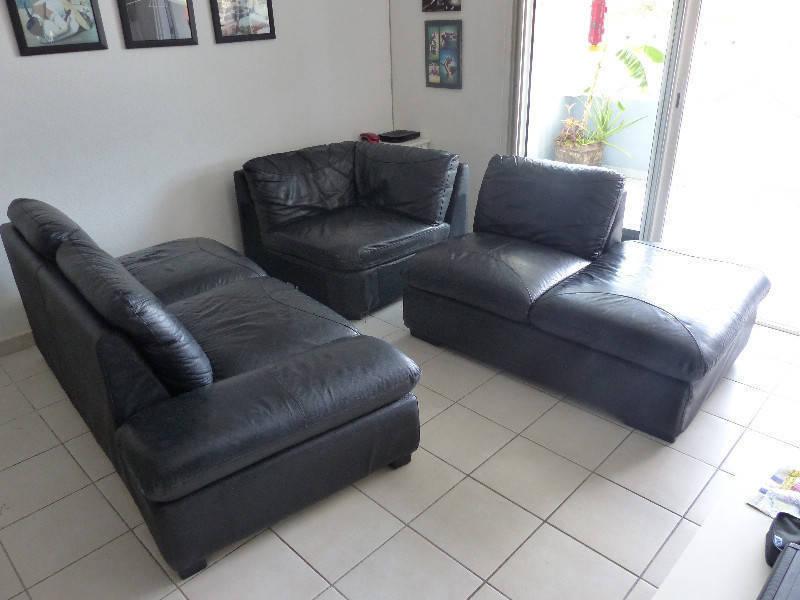 Corner leather sofa quality full-grain