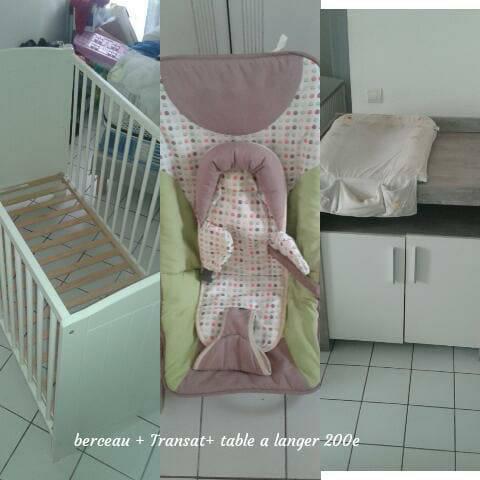 Berceau transat table a langer annonce pu riculture for Berceau table a langer