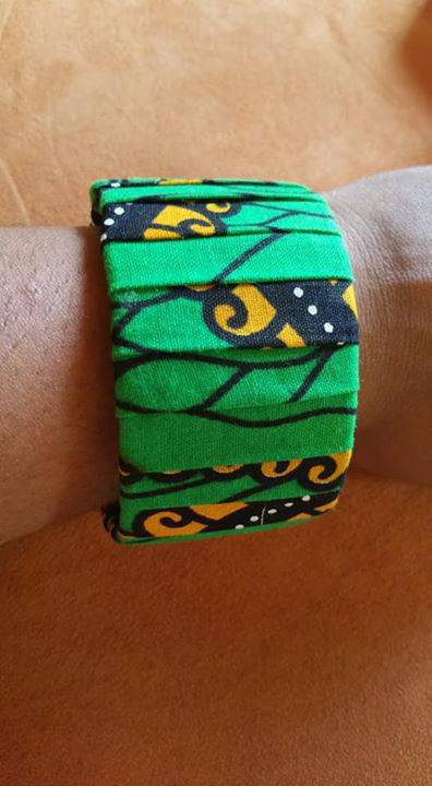 Bracelets manchette wax Martinique · Bracelets manchette wax Martinique