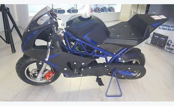 Sport Blue 40cc Pocket Bike
