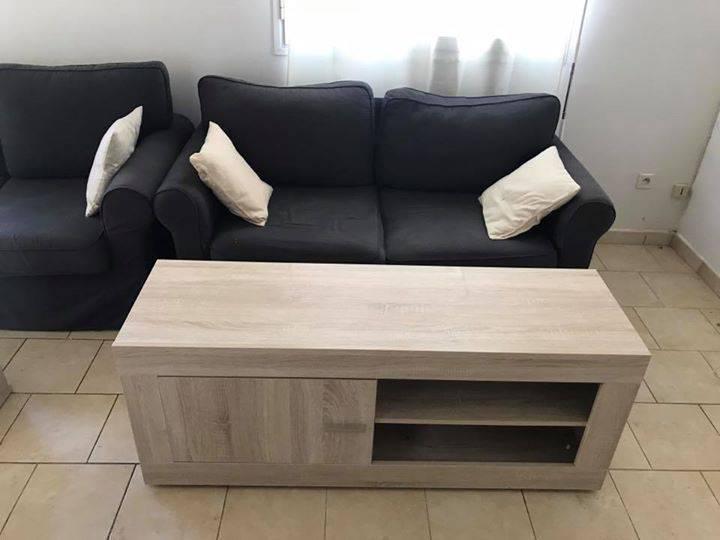 Table basse meuble t l canap s annonce meubles et for Meuble tele et table basse