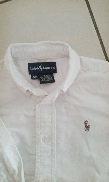 ralph lauren chemise blanche garcon 18 mois annonce habillement enfant et b b guyane. Black Bedroom Furniture Sets. Home Design Ideas