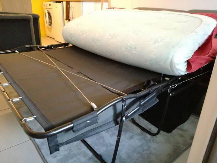 Canap lit vrai sommier et matelas annonce meubles et d coration la r union - Canape lit avec vrai matelas ...