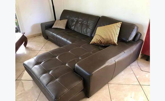 canap luxe italien ellesalotti cuir annonce meubles et d coration la rivi re la r union. Black Bedroom Furniture Sets. Home Design Ideas